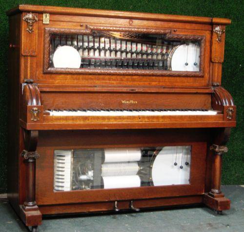Wurlitzer-Style-I-Oak-Nickelodeon-music-box-jukebox-player-piano-coinop