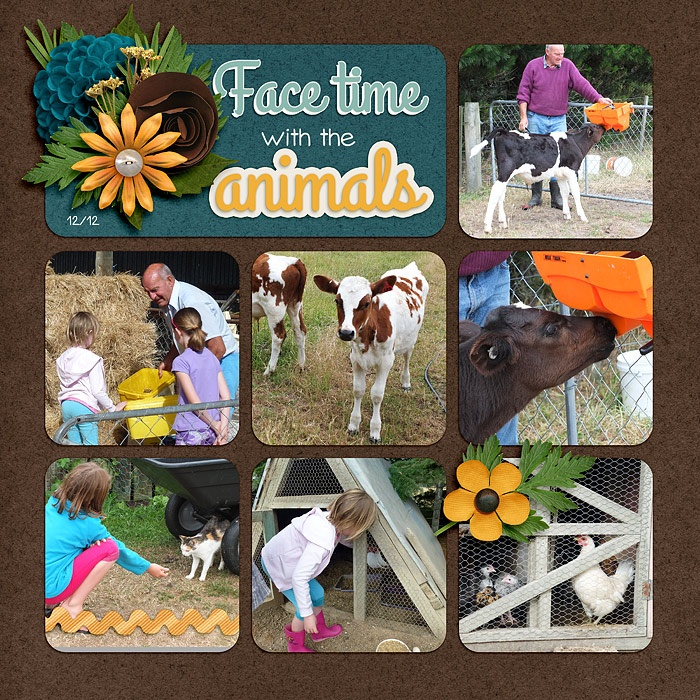 Facetime with the animals(1) - Scrapbook.com