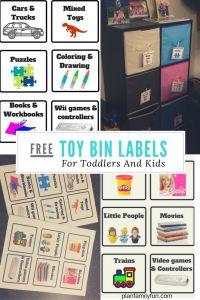 toy bin labels