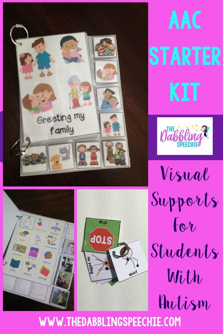 Having visuals for your students with Autism helps a lot with getting spontaneous language. Don't have time to make visuals, get all the visual supports you need for your AAC caseload