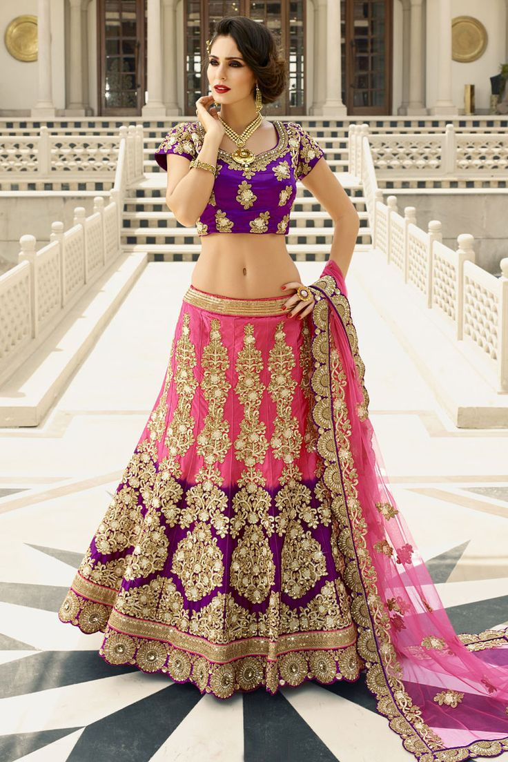 #StyleOfTheDay Buy This Pink-Voilet Pure Silk Heavy Embroidery Work #Designer #BridalLehengaCholi. Buy Now:- http://www.lalgulal.com/lehenga-choli/pink-voilet-pure-silk-heavy-embroidery-work-designer-bridal-lehenga-choli-697 #CashOnDelivery & #FreeShipping only in India. For Other Query Just Whatsapp Us on +91-9512150402 Or Mail Us at info@lalgulal.com.