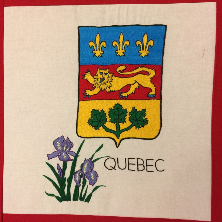Quebec, hand embroidered