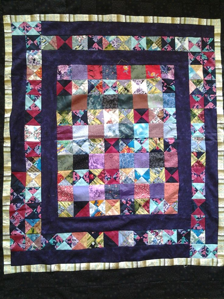 Using tiny trimmings and building a quilt.