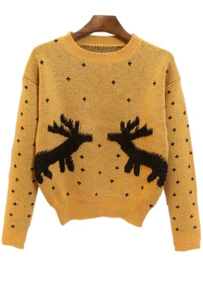 Dotted Reindeer Sweater