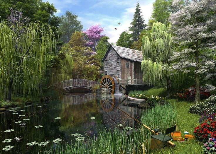 74 Best Down By The Old Mill Stream Images On Pinterest