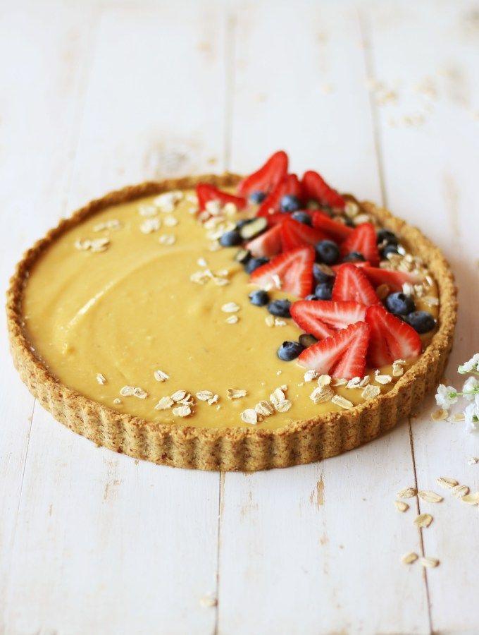 Tartaleta de avena **Sin Lácteos** Vegan Recipes, Cheesecake, Gluten, Pie, Desserts, Food, Business, Vegan Food, Health Desserts
