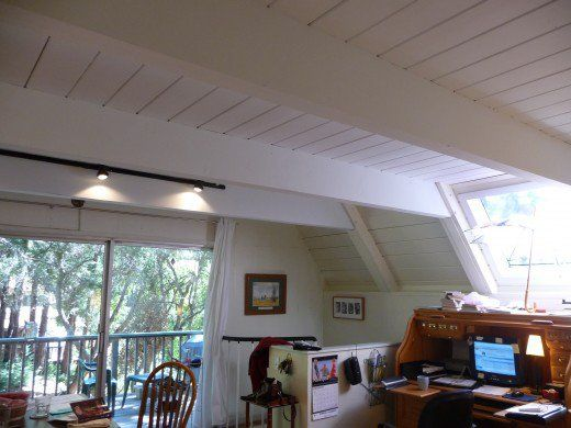 1000 ideas about painted wood ceiling on pinterest - Painting wood beams on ceiling ...