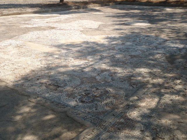 mosaic outside the museum