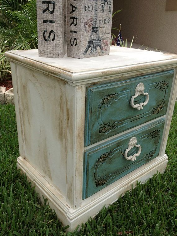 Shabby Chic Chalk Paint Nightstand  End by JenniferParisDesigns. 38 best Night stands images on Pinterest   Night stands  Chalk