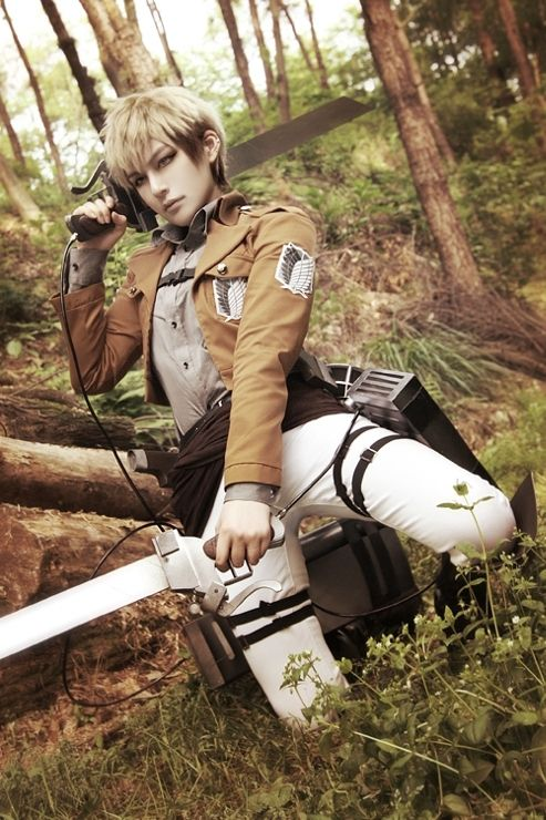 Do you this coser show us a handsome real live character Jean Killstein from Attack On Titan? I think this coser do a vivid Jean Killstein cosplay ----- ranging from the same cool cosplay costumes, cosplay accessories to cool posture. Everything is so perfect!!! - See this image on Photobucket.