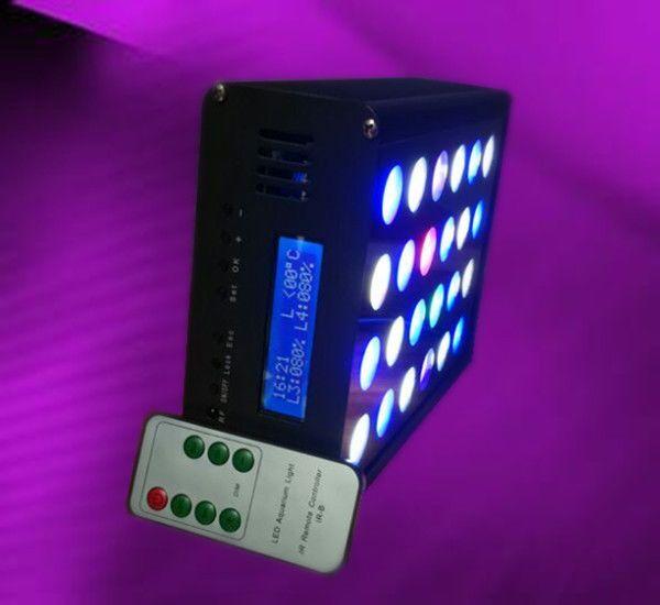 24x3W Reef tank coral SPS LPS marine LED light mini nano blue remote control #ECOSUNLED