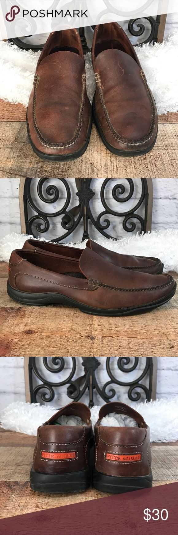 Peter Millar Leather Loafers 9.5 Gently used with no major flaws light wear  Size 9.5 Medium   I ship Monday through Saturday weather permitting Thank you. Peter Millar Shoes Loafers & Slip-Ons