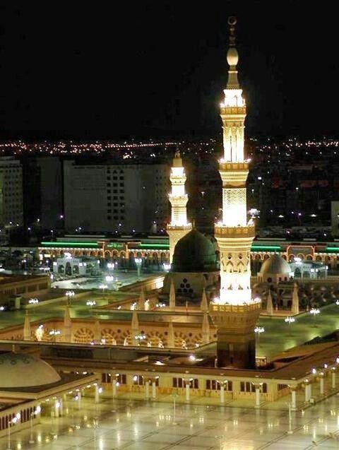 Night view @ Masjid Nabawi, Mekah