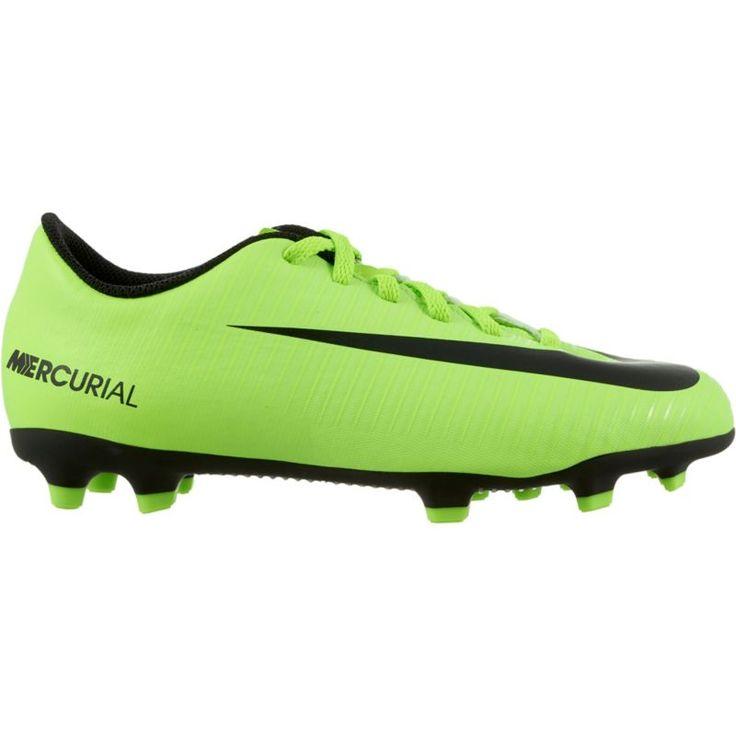 Nike Kids' Mercurial Vortex III FG Soccer Cleats, Boy's, Green