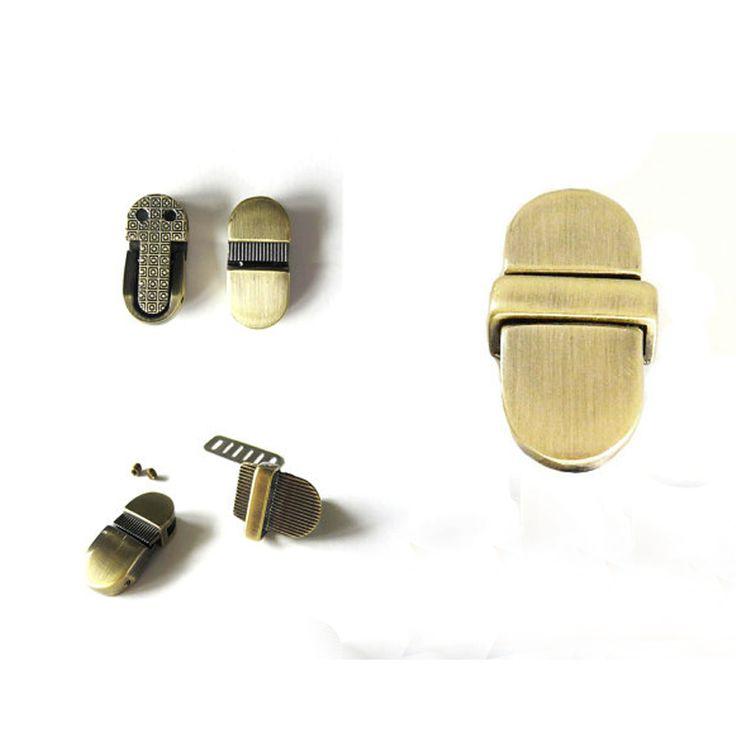 Purse Tongue Locks / Purse Thumb Locks / Purse Catch Lock in Brushed Antique Brass #Affiliate