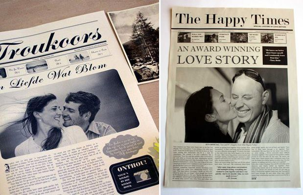 South African wedding newspapers by NewsFavor! http://www.yesbabydaily.com/blog/wedding-newspaper-south-africa
