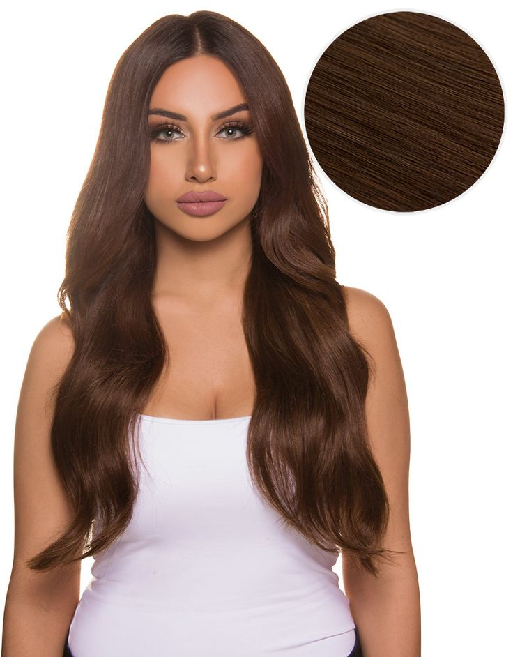 "As indulgent as its namesake, the Bambina 20"", 160g Chocolate Brown has rich yet subtle red and golden undertones. these Bellami Hair clip in extensions instantly transform your hair and allow you to"