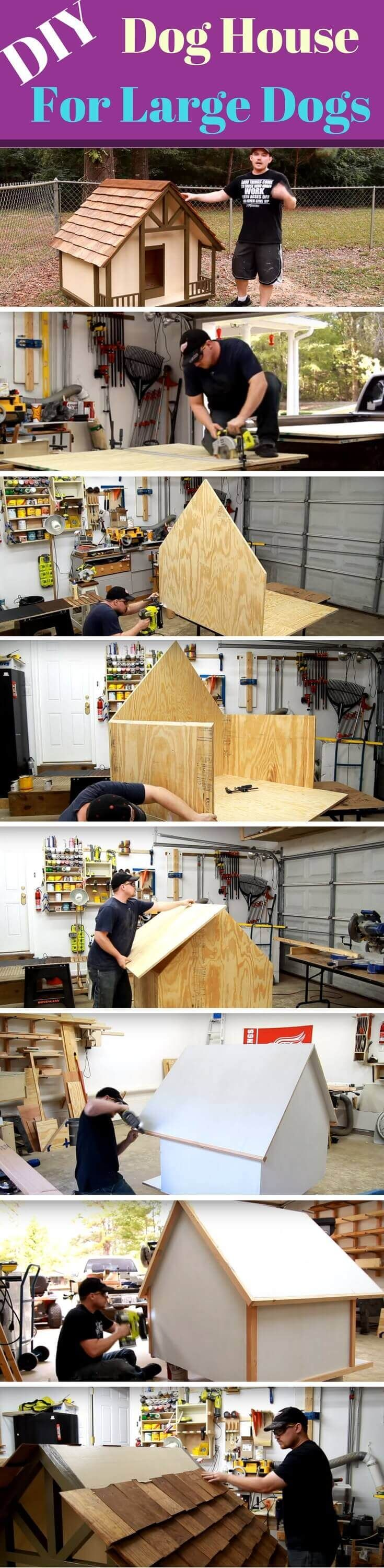 DIY Dog House For Large Dogs