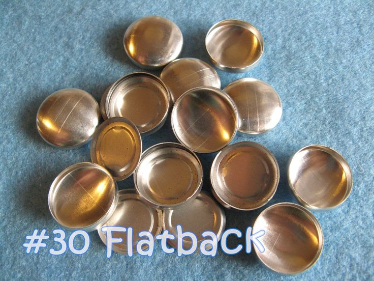 25 Covered Buttons FLAT BACKS - 3/4 inch - Size 30  flat backs no loops covered buttons notion supplies diy refill - pinned by pin4etsy.com