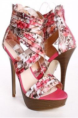 Satin floral multi platform heels but there a lil on the high side !!! but there cute!!