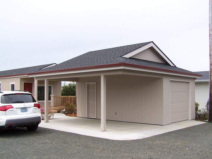 A garport half garage half carport get more for How much does it cost to build a 24x24 garage