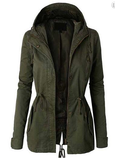 $35 Cargo Jacket in Olive – Ivory Gem