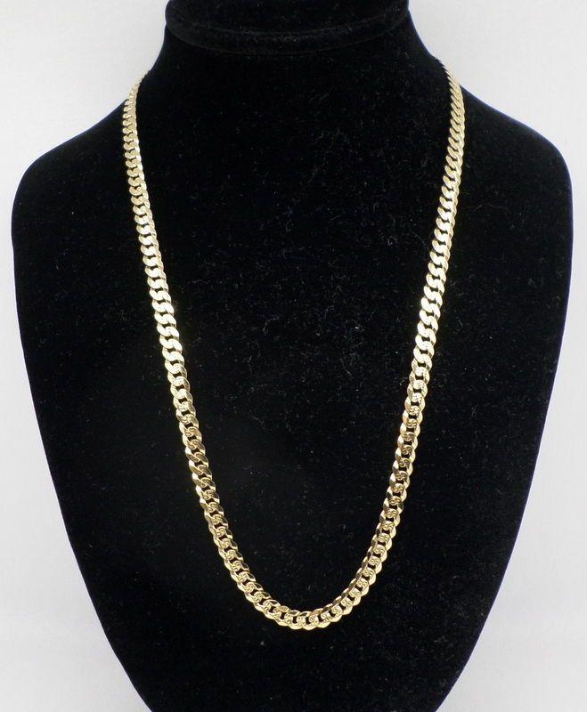 """ITALIAN Men's 14K YELLOW GOLD Cuban Link CHAIN, 15.7 grams, 18""""Long -#10,125 #Chain"""