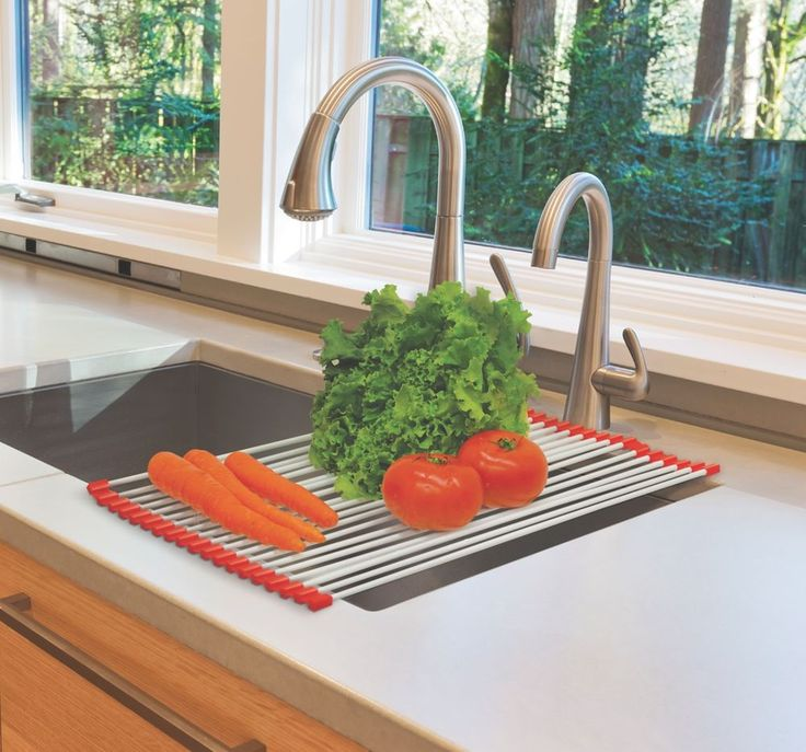 Rollup Drying Rack Over Sink Kitchen Space Saver Produce Dish Dishes Counter  #HandyGourmet