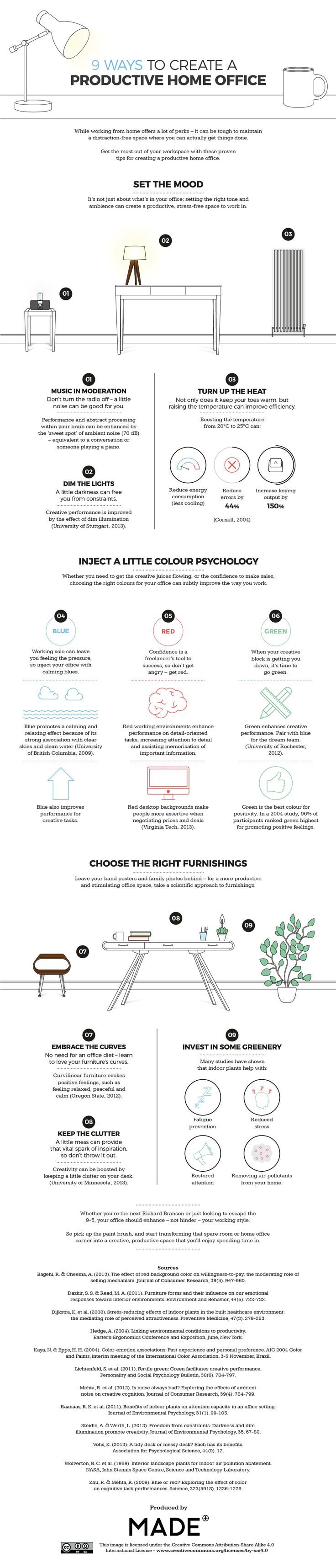 9 Ways to Create a Productive Home Office (Infographic)                                                                                                                                                     More