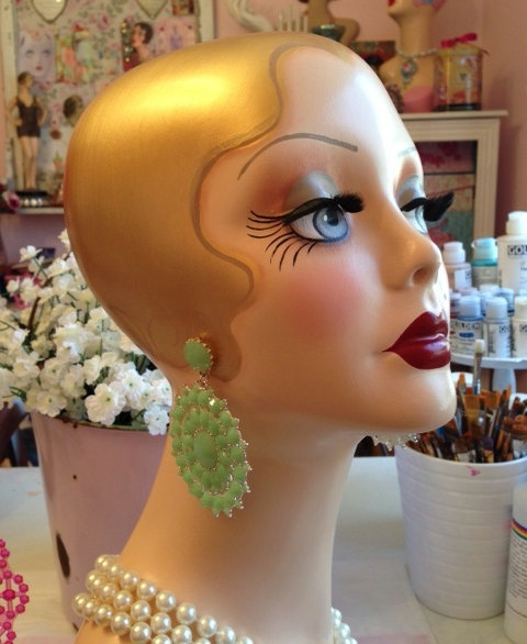 ART DECO FLAPPER Mannequin Head - Ready to Ship