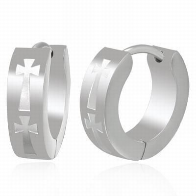 Stainless Steel Cross Örhängen