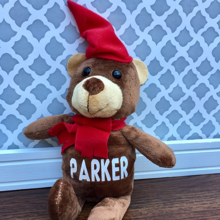 Excited to have PERSONALIZED SANTA BEARS available in the shop now!  Christmas is coming soon and these guys would make a great gift or stocking stuffer!! :)
