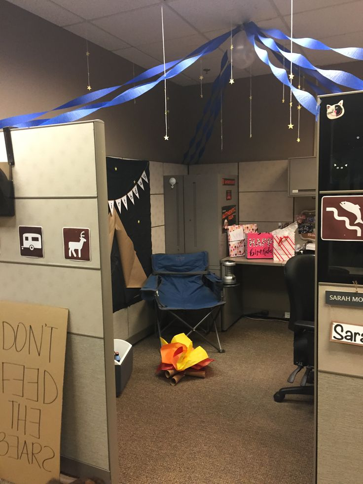 My Coworkers Turned My Cube Into A Campsite Cubicle Campground Office