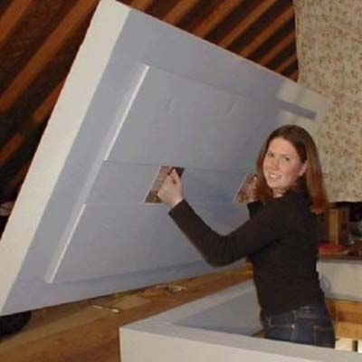 insulated panel for attic stairs I guess yeah, you would have to insulate attic stairs for noise and heat/cool