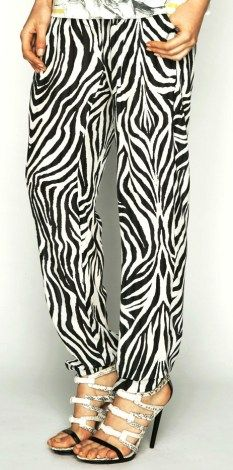 Talulah love for life 100% silk pant in zebra print $220 available at www.threadsandstyle.com.au