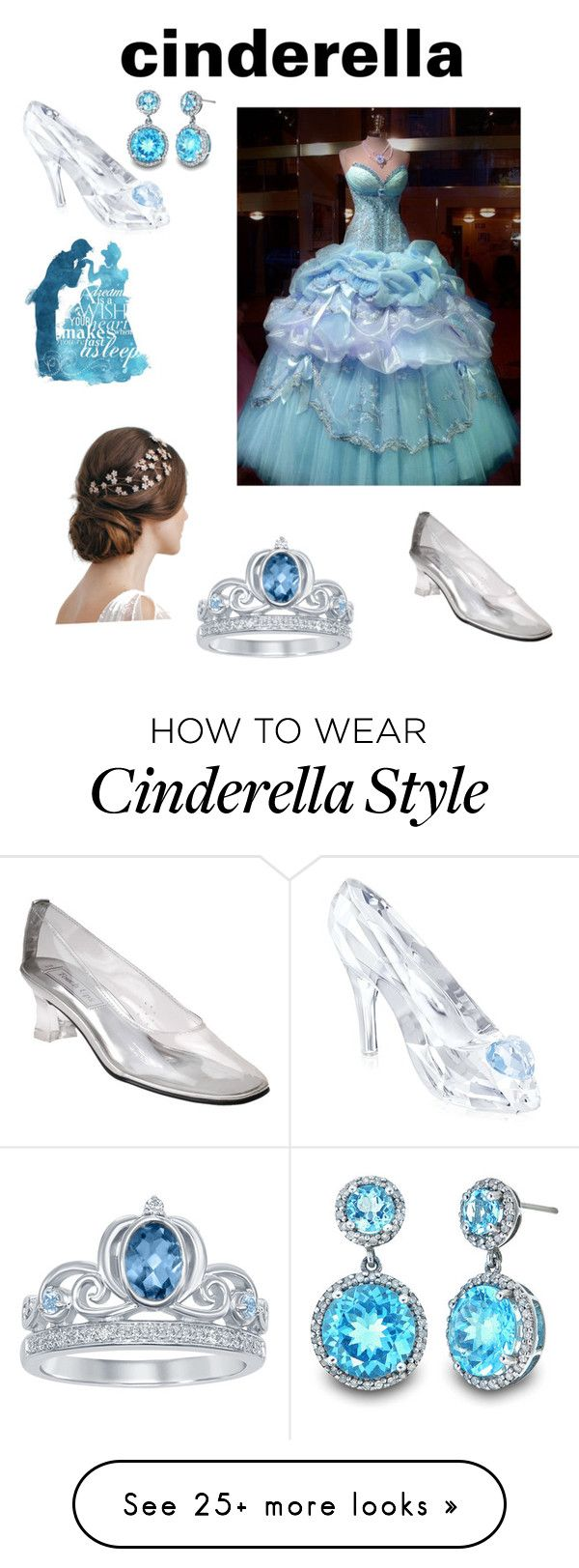 """""""cinderella"""" by koolc on Polyvore featuring Touch Ups, Swarovski and Disney"""