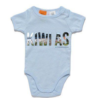 Kiwi As Baby Clothing - Blue One Piece
