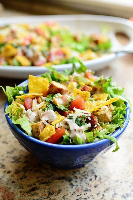 We're eating more chicken around here these days. This looks like a great taco salad recipe.