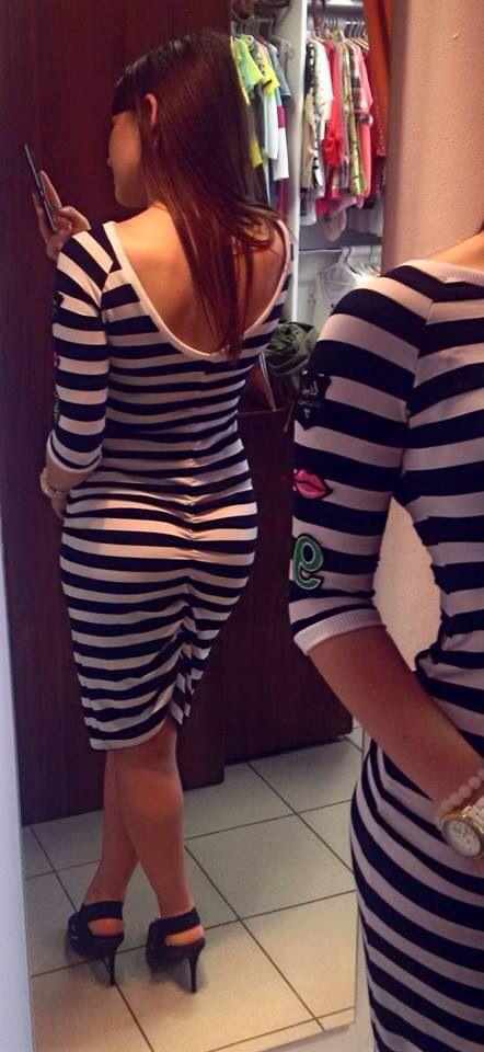 #dress #paski #pasiasta #podkreslajacaKsztalty