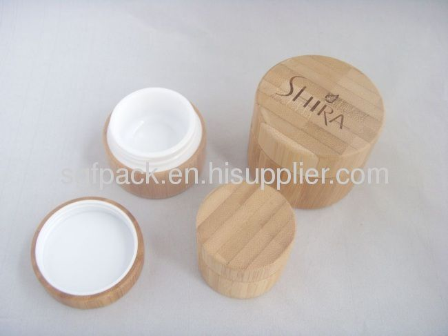 Bamboo Cosmetic package glass jar from China manufacturer - SGF PACKAGING CO.,LTD.(SELECTIVE PACKAGING LTD)
