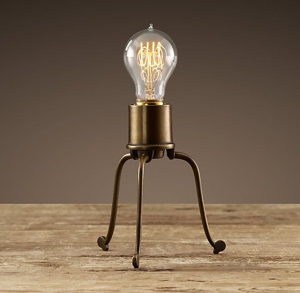 Mini tripod filament table lamp from restoration hardware