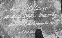 Marie Delphine LaLaurie, more commonly known as Madame LaLaurie, was a Louisiana-born socialite, and serial killer known for her involvement in the torture and murder of black slaves. She maintained a prominent position in the social circles of New Orleans until April 10, 1834, when rescuers responding to a fire at her Royal Street mansion discovered bound slaves within the house who showed evidence of torture over a long period.