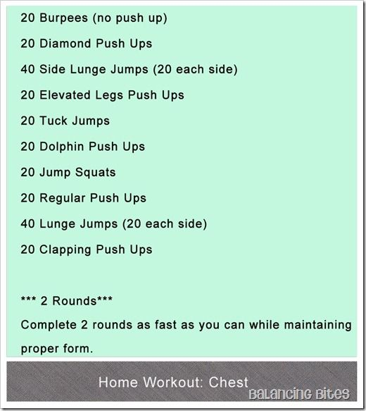 Home Workouts Pecs
