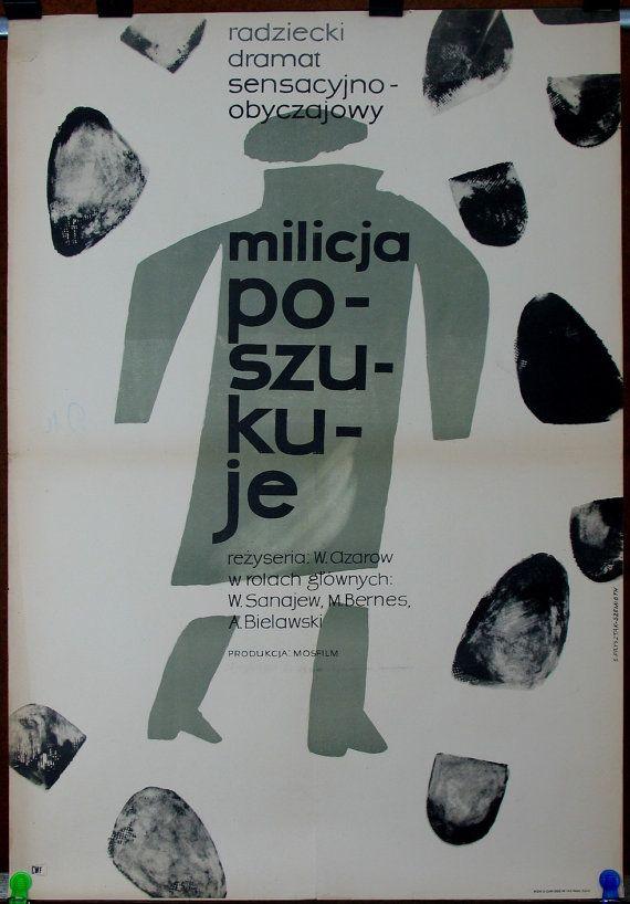 Cinemaposter. New wave. Avant-garde art. Russian movie 1963. Directed by Villen Azarov. Polish poster by: Ewa Frysztak.