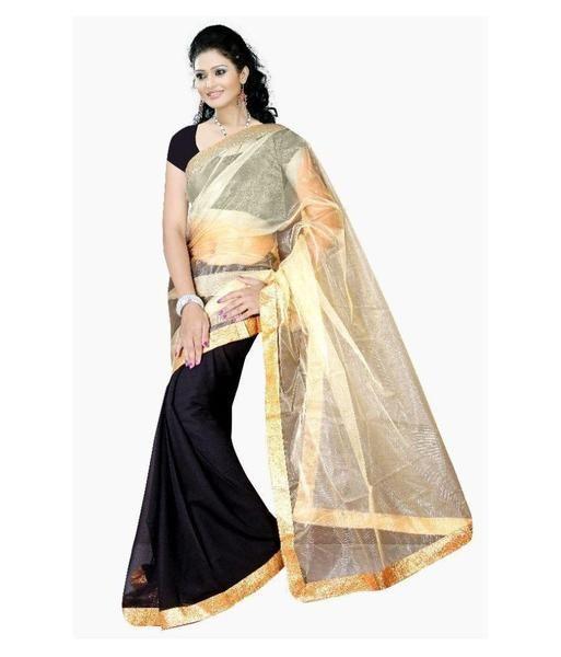 Black & Golden Color Net Saree Plain Designer Net Sarees For Women https://ladyindia.com/collections/net-sarees/products/black-golden-color-net-saree-plain-designer-net-sarees-for-women  #saree #netsaree #designersaree