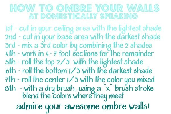 145th Power of Paint Party... Ombre Bedroom Wall Tutorial - Domestically Speaking