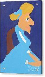 Acrylic Print featuring the painting Portrait Of Adeline Ravoux 2014 - After Vincent Van Gogh by Patrick Francis