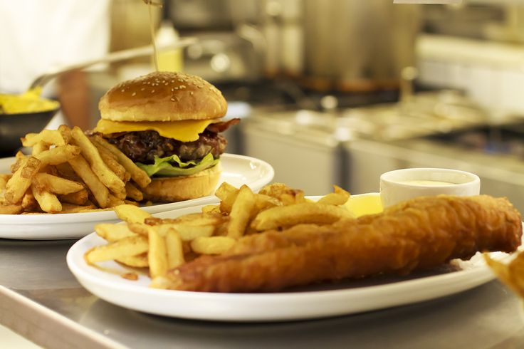 Hot off the pass at Peddlars & Co. Terrace burger or crispy fish and chips?
