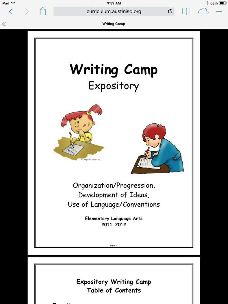 narrative essays on camping Third grade writing  writing a narrative  after reading the story about derrick's first camping trip, write derrick's journal entry.