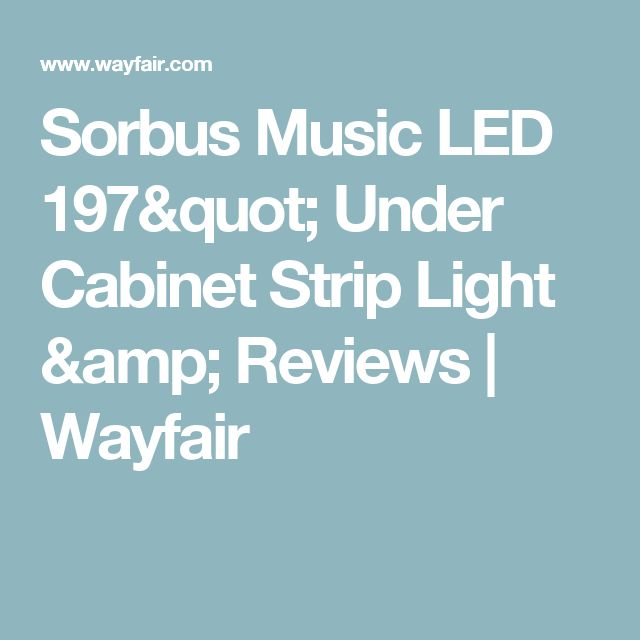 Sorbus Music Led 197 Under Cabinet Strip Light